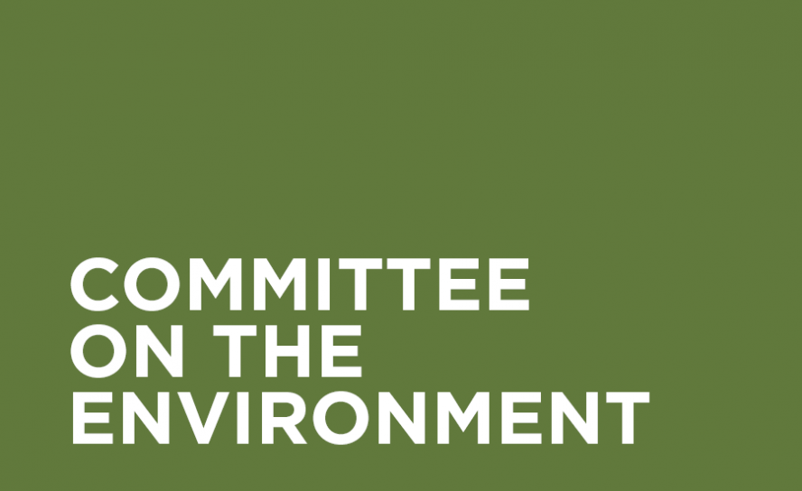 "White text on olive green background: ""Committee on the Environment"""