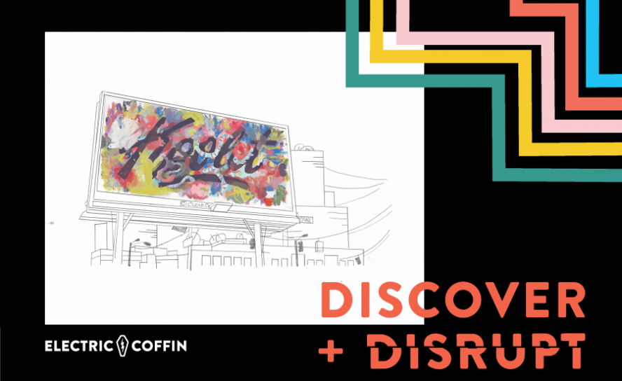 Discover + Disrupt exhibit graphic